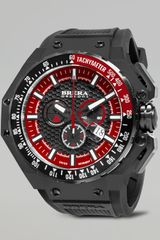 Brera Gran Turismo Black Ip Watch Red - Lyst