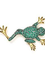 Carolee Frog Pin - Lyst