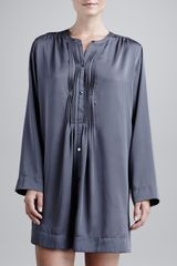 Donna Karan New York Laundered Satin Sleepshirt - Lyst