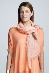 Eileen Fisher Splatter Painted Cotton Scarf Arabesque - Lyst