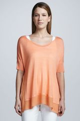 Eileen Fisher Silk Tussah Box Top - Lyst