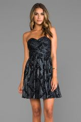 Erin Erin Fetherston Runway Flora Dress in Black - Lyst