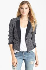Halogen Tweed Ponte Knit Jacket - Lyst