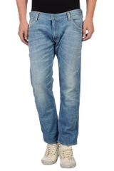 HTC Denim Trousers - Lyst