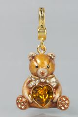 Jay Strongwater Teddy Bear with Heart Charm - Lyst