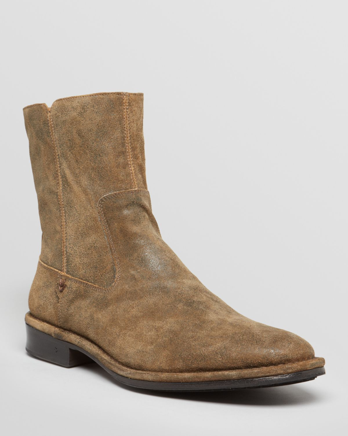 varvatos collection mercer suede boots in brown for
