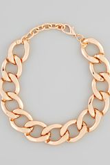 Kenneth Jay Lane Rose Golden Chain Link Necklace - Lyst