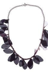 Lanvin Silk Petal Necklace - Lyst