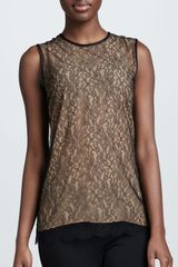Michael Kors Chantilly Lace Shell - Lyst