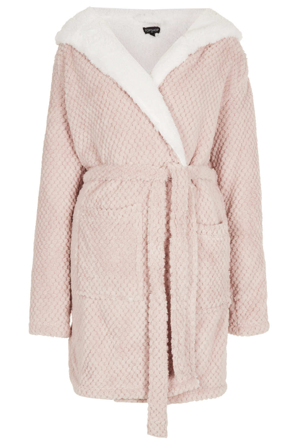 Topshop Teddy Robe in Natural - Lyst