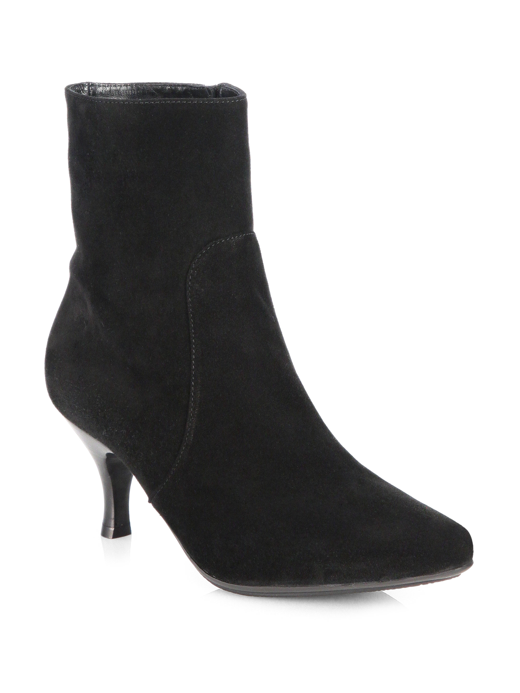 aquatalia by marvin k mila suede ankle boots in black