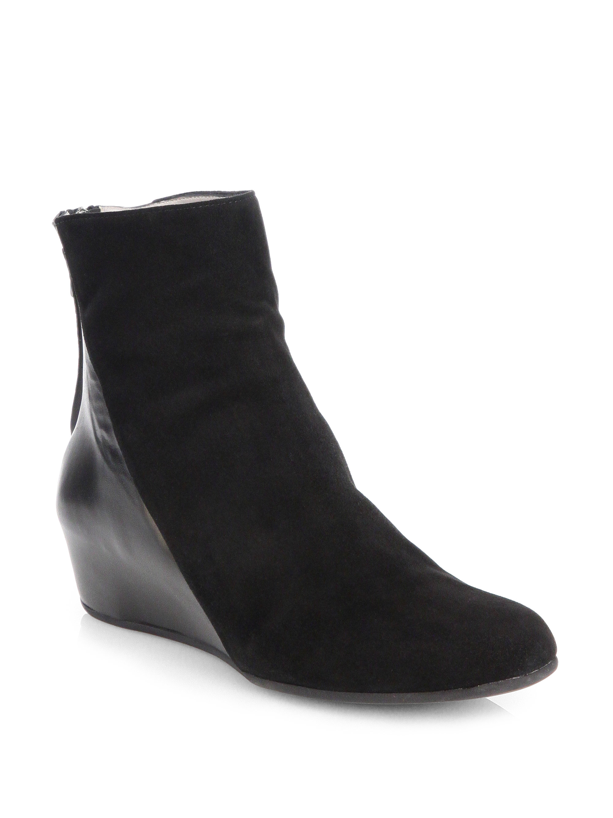 Aquatalia By Marvin K Ursa Suede And Leather Ankle Boots