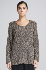 Eskandar Bateau-neck Sweater Brown-multi - Lyst