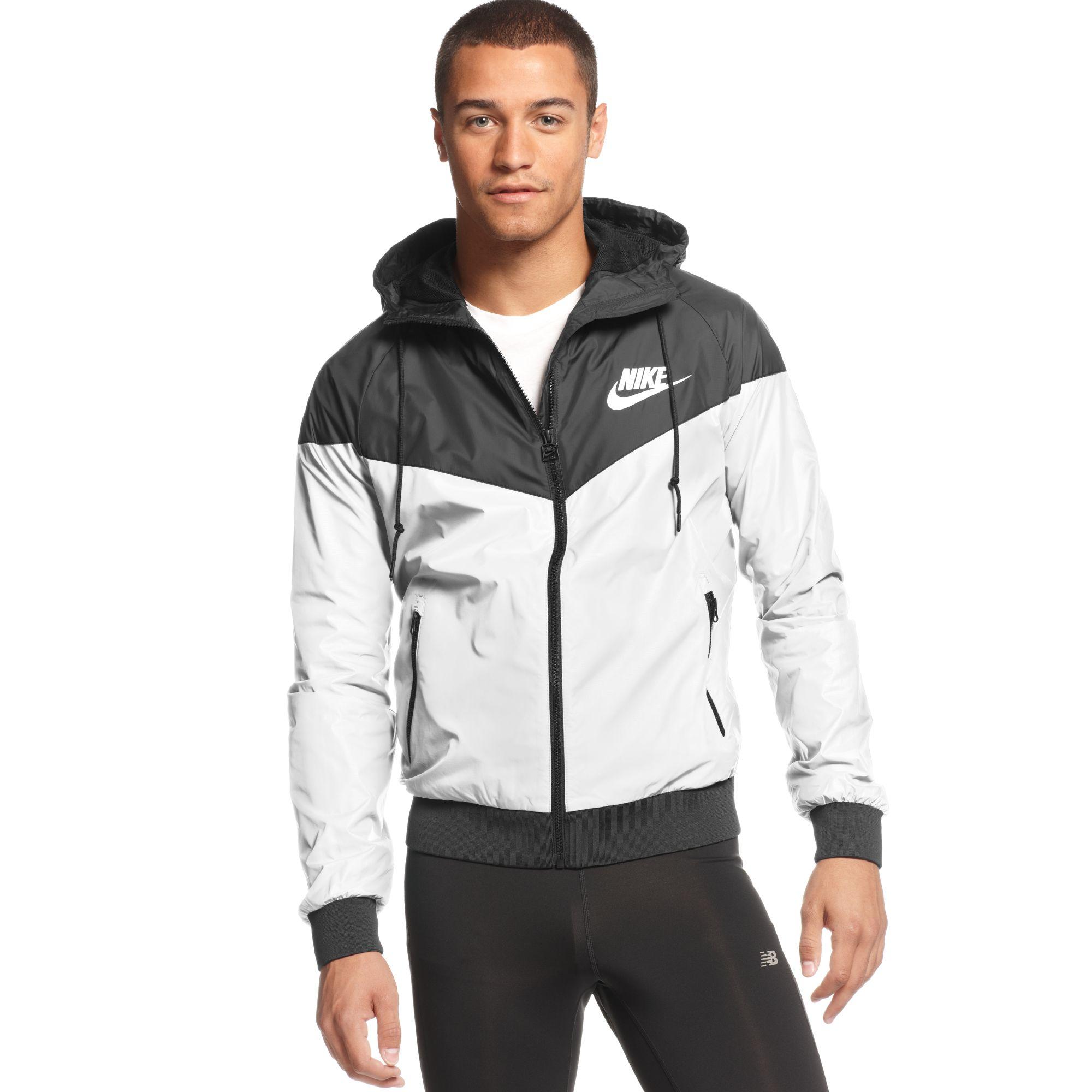 d869dbe73 Nike Wind Runner Hooded Jacket in White for Men - Lyst