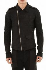 Rick Owens Stooges Leather Biker Jacket - Lyst