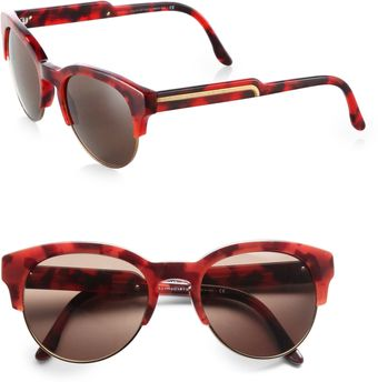 Stella McCartney Curved Hornrimmed Sunglasses - Lyst