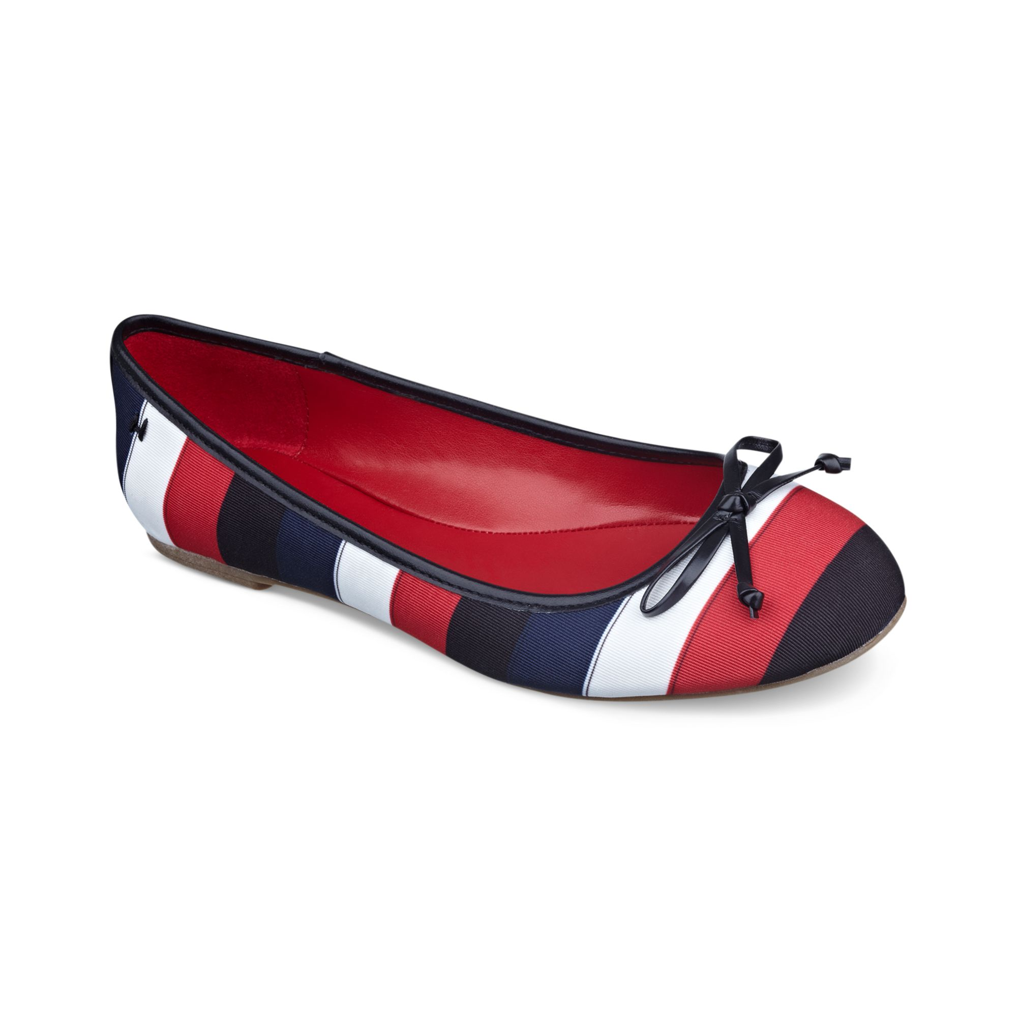 tommy hilfiger belisana ballet flats in multicolor black. Black Bedroom Furniture Sets. Home Design Ideas