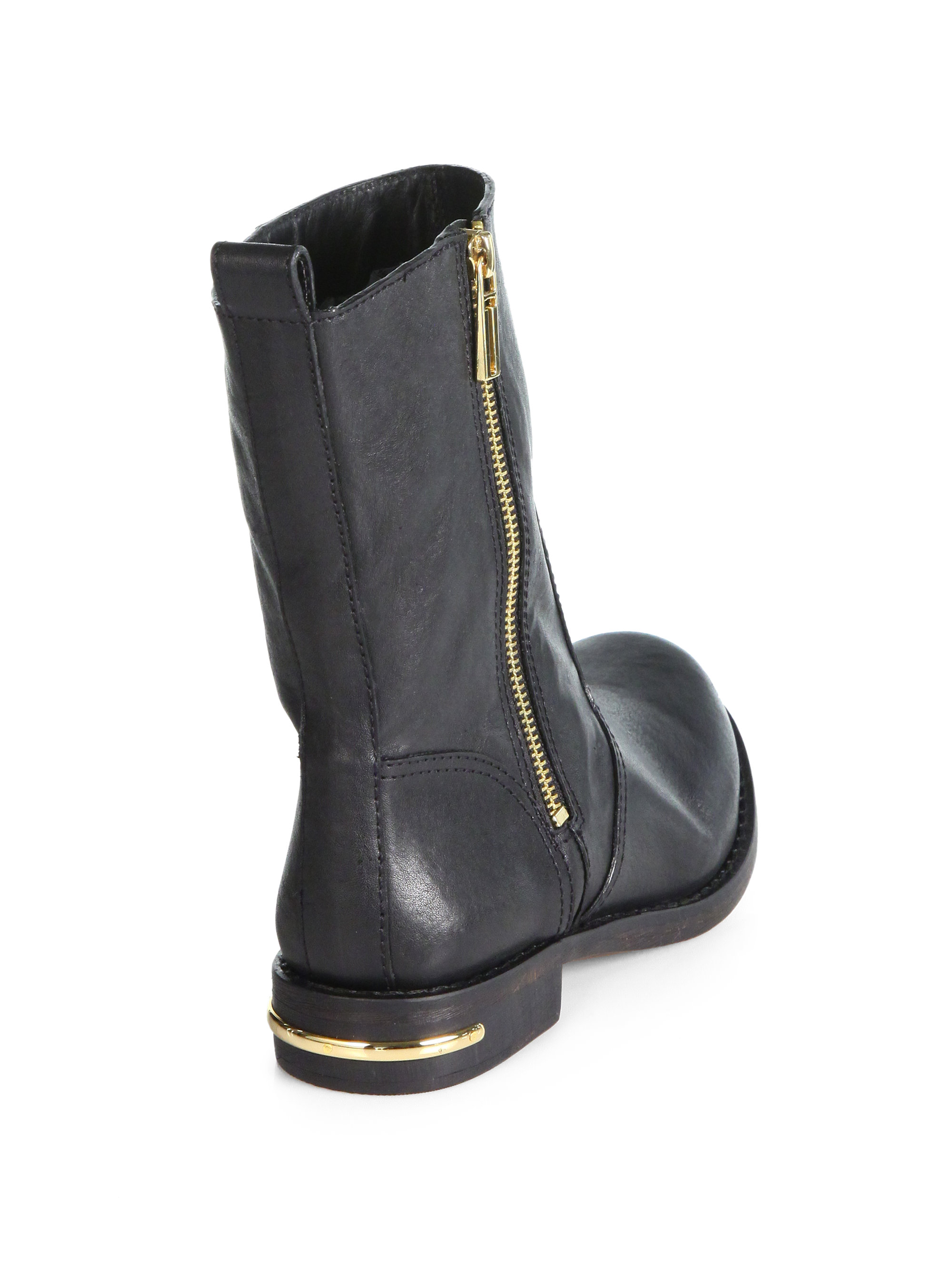 8550dafac407 Lyst - Tory Burch Elyse Leather Midcalf Boots in Black