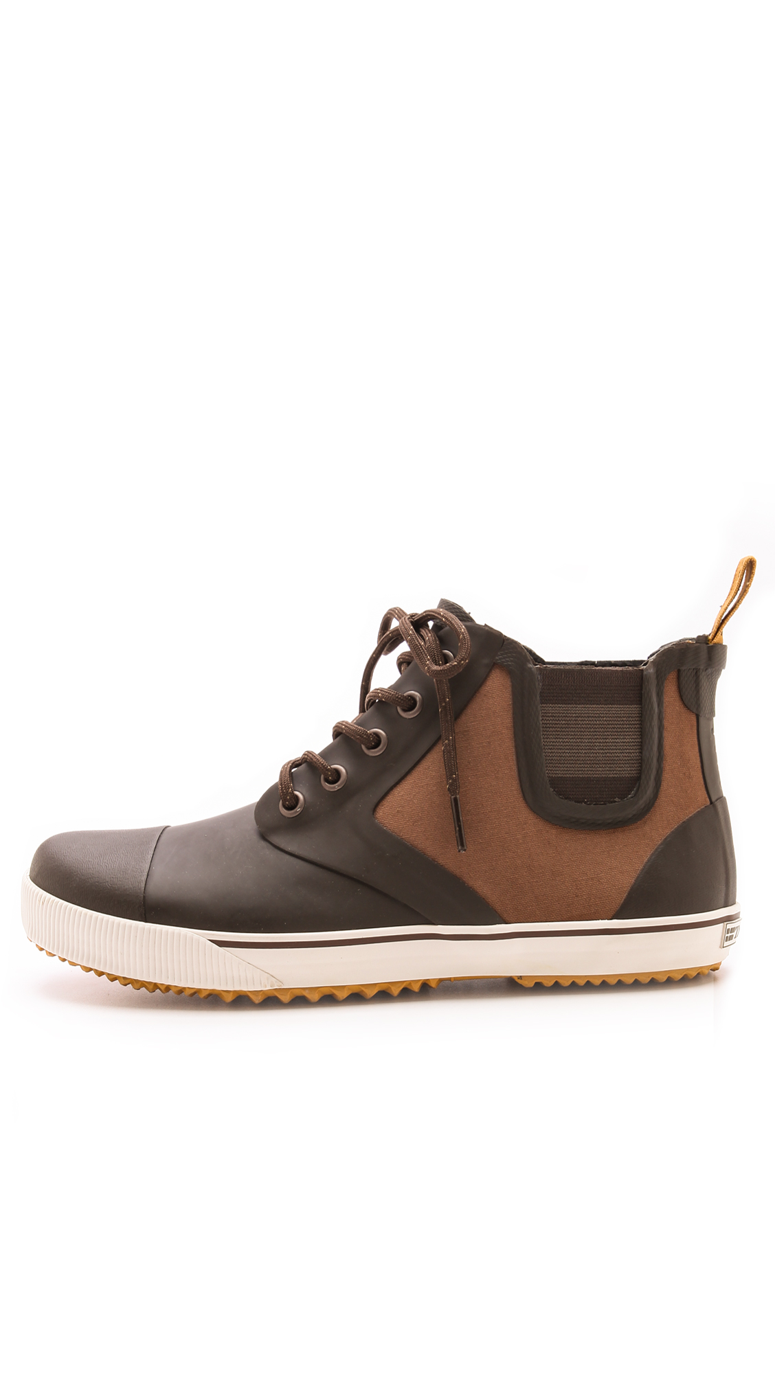 Lyst Tretorn Gunnar Canvas Rubber Boots In Brown For Men