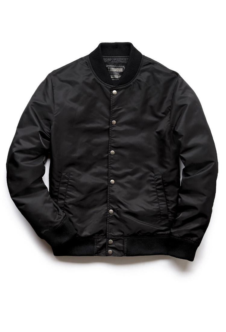 Forever 21 Everyday Bomber Jacket in Black for Men | Lyst