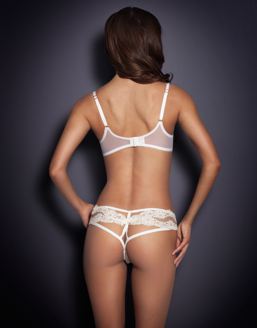 948d07c173 Lyst - Agent Provocateur Lacy Ouvert Ivory in White