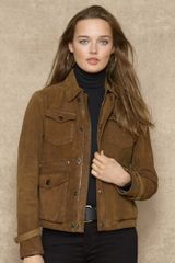 Blue Label Oiled Suede Jacket - Lyst