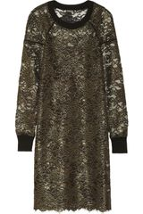 DKNY Metallic Lace Dress - Lyst