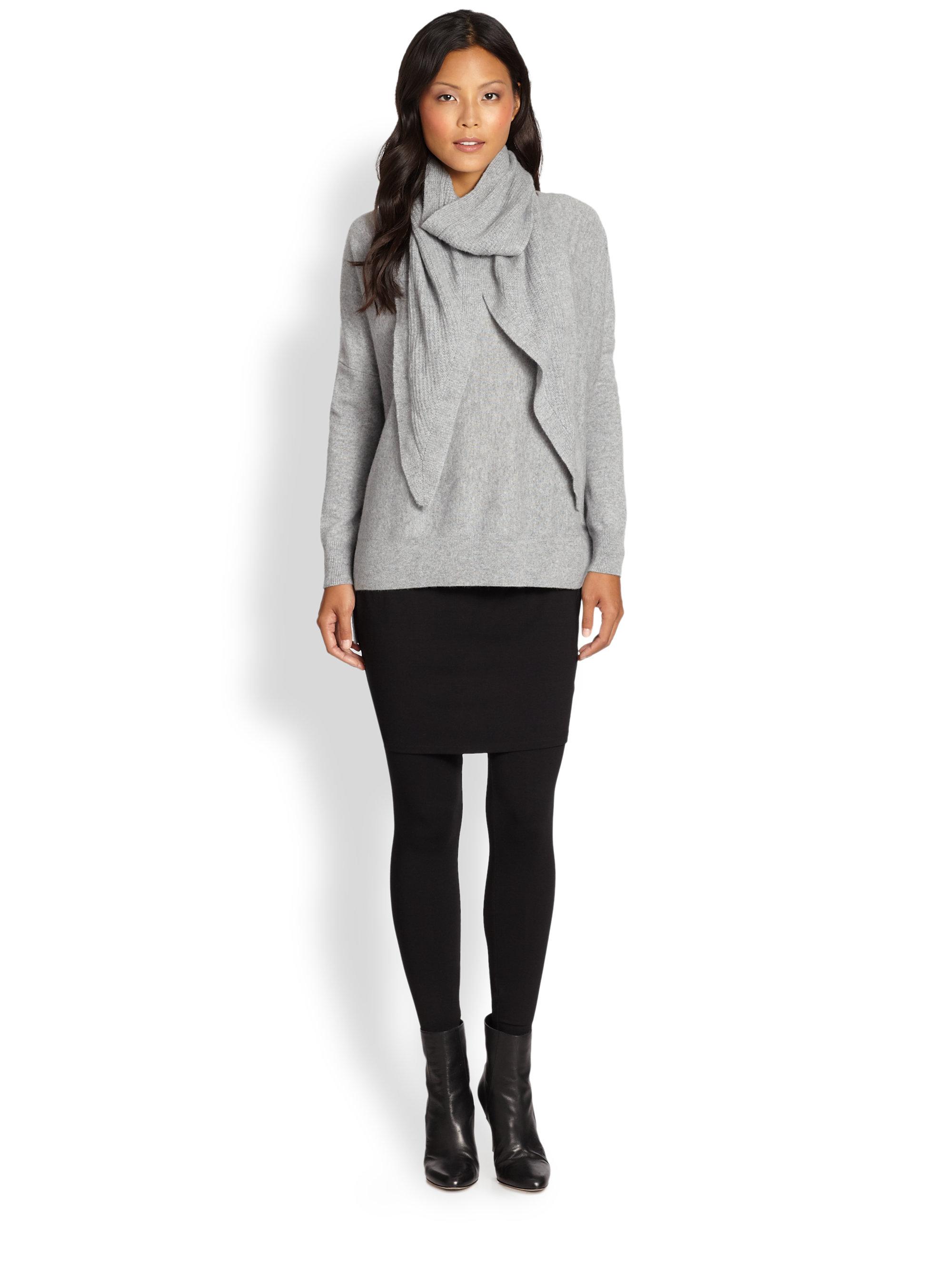 c83ebf86424dcb Eileen Fisher Jersey Skirt Leggings in Black - Lyst