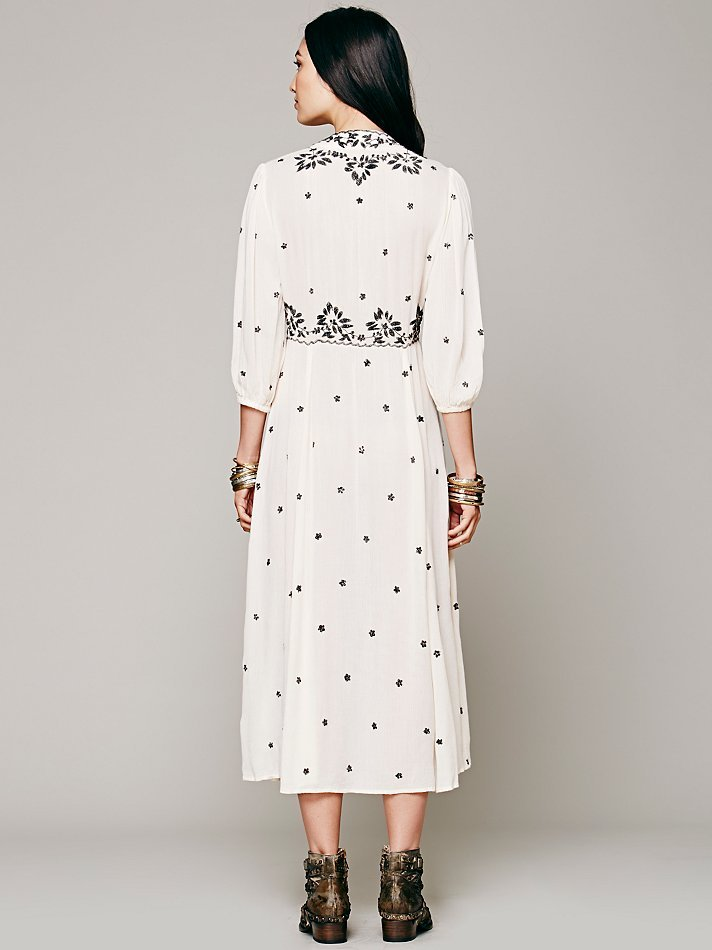 Lyst Free People Embroidered Fable Dress In White