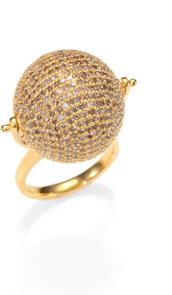 Jade Jagger Diamond Disco Ball Ring - Lyst