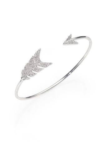 Jade Jagger Diamond and Sterling Silver Arrow Bracelet - Lyst