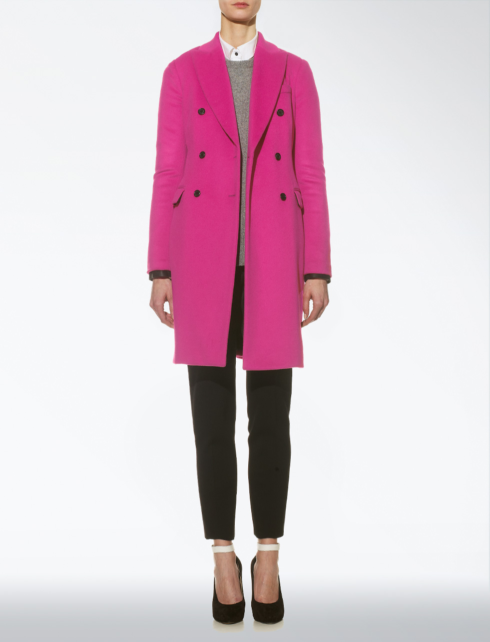 Fuschia Pink Coat Coat Nj
