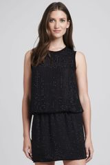 L'Agence Beaded Silk Blouse - Lyst