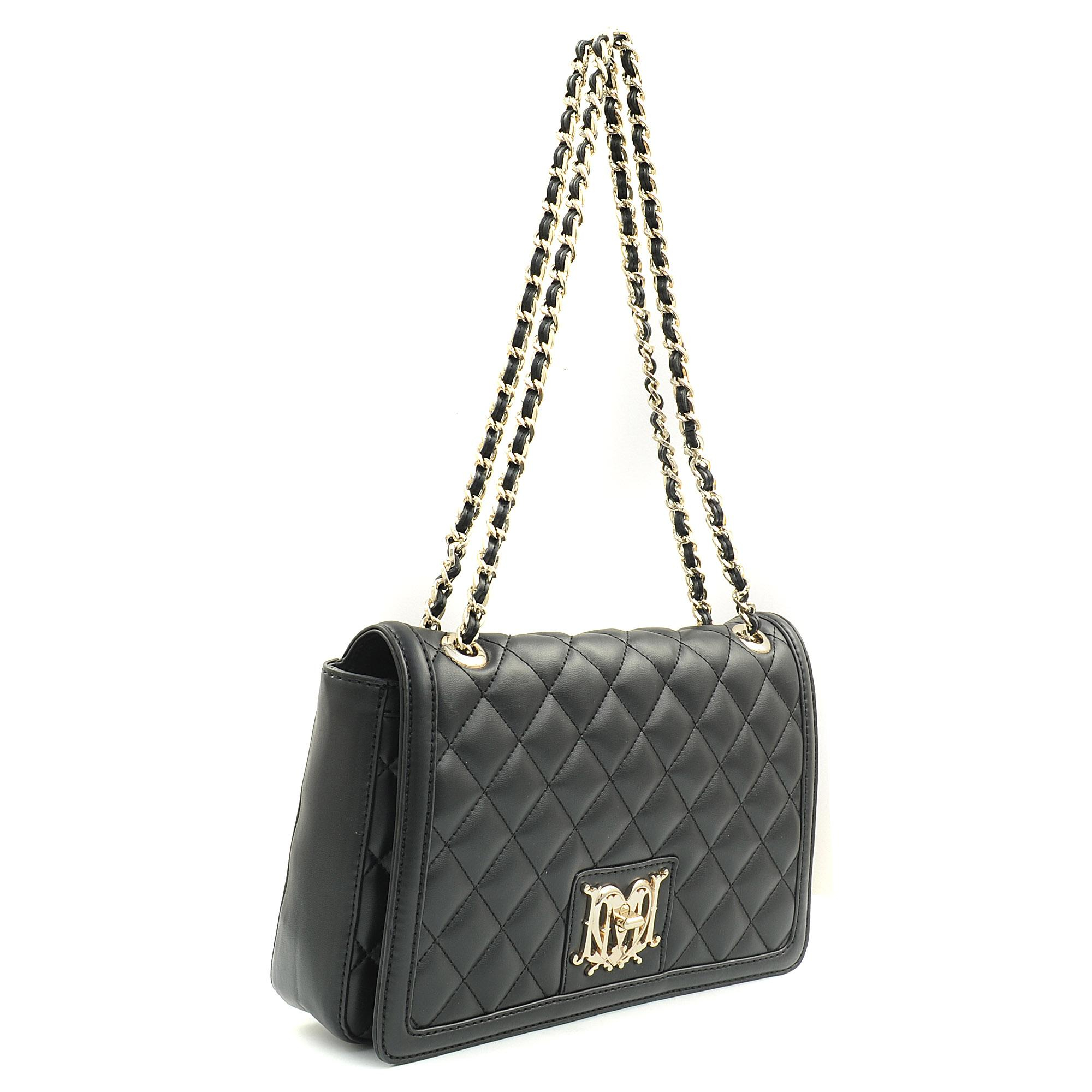 952062dda47a Love Moschino Super Quilted Flap Cover Bag in Black - Lyst