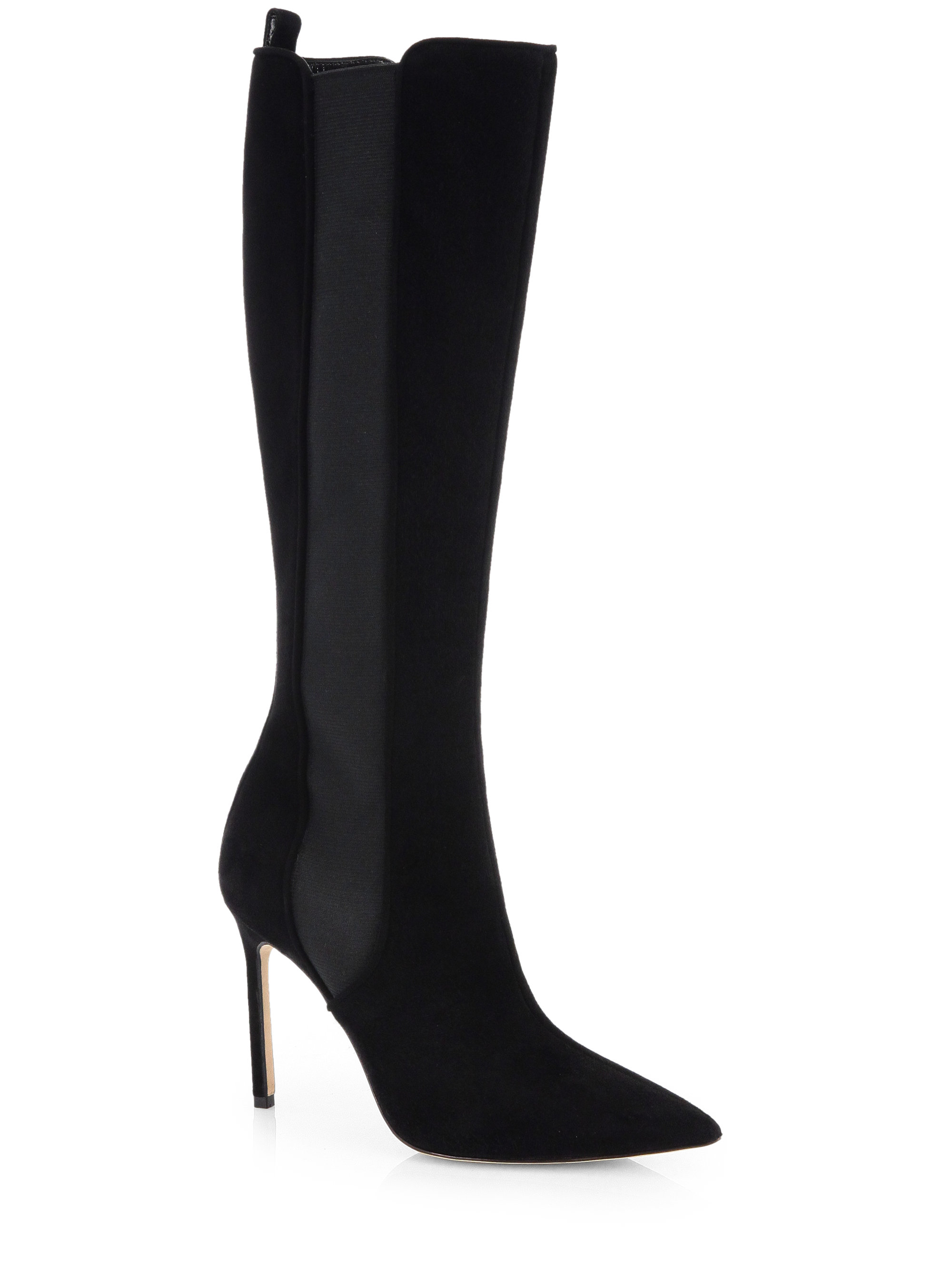 manolo blahnik flat stretch boot