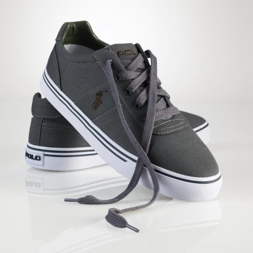 2bee76833 Polo Ralph Lauren Hanford Canvas Sneaker in Gray for Men - Lyst