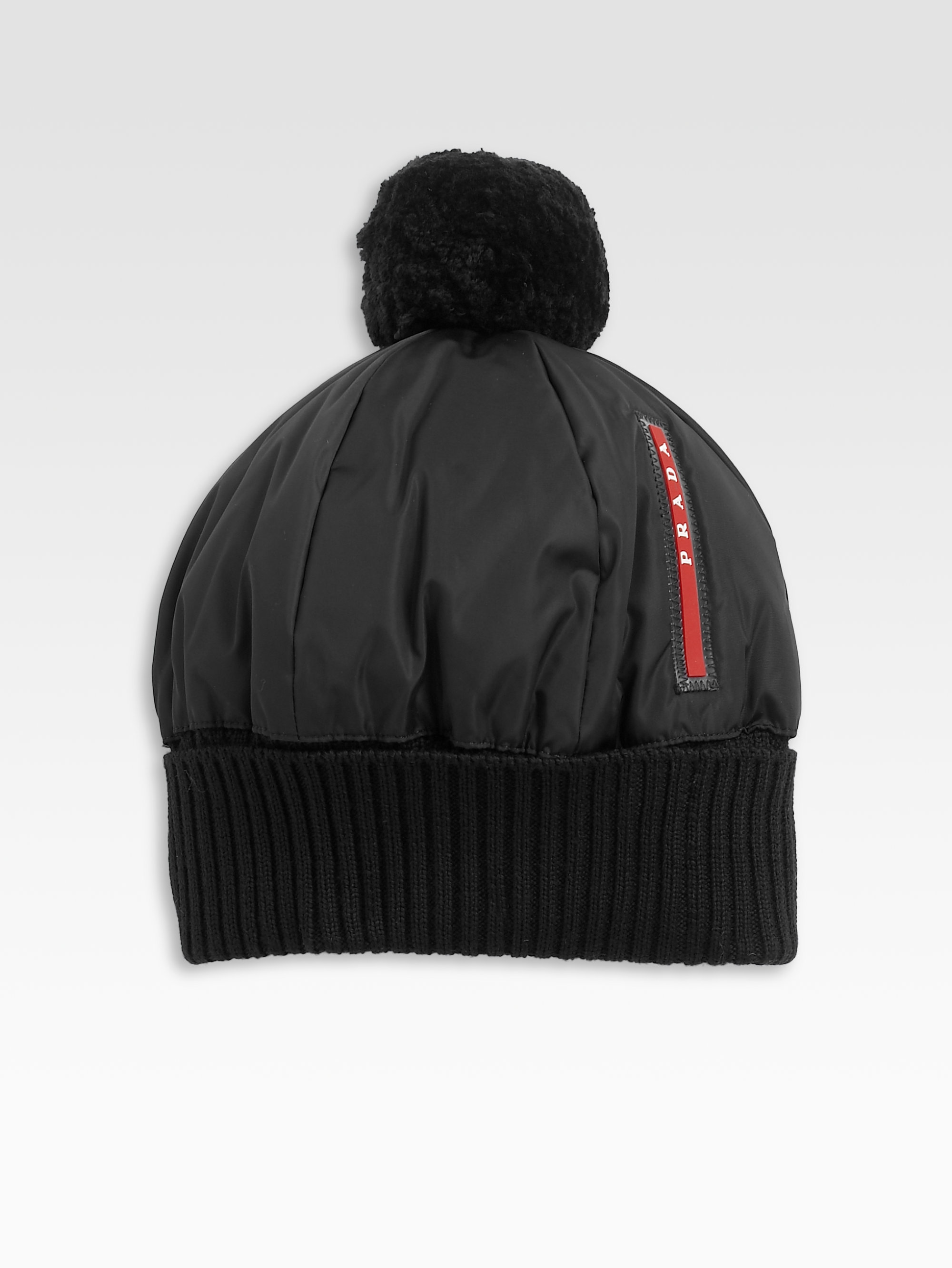 Lyst Prada Puffer Hat In Blue For Men