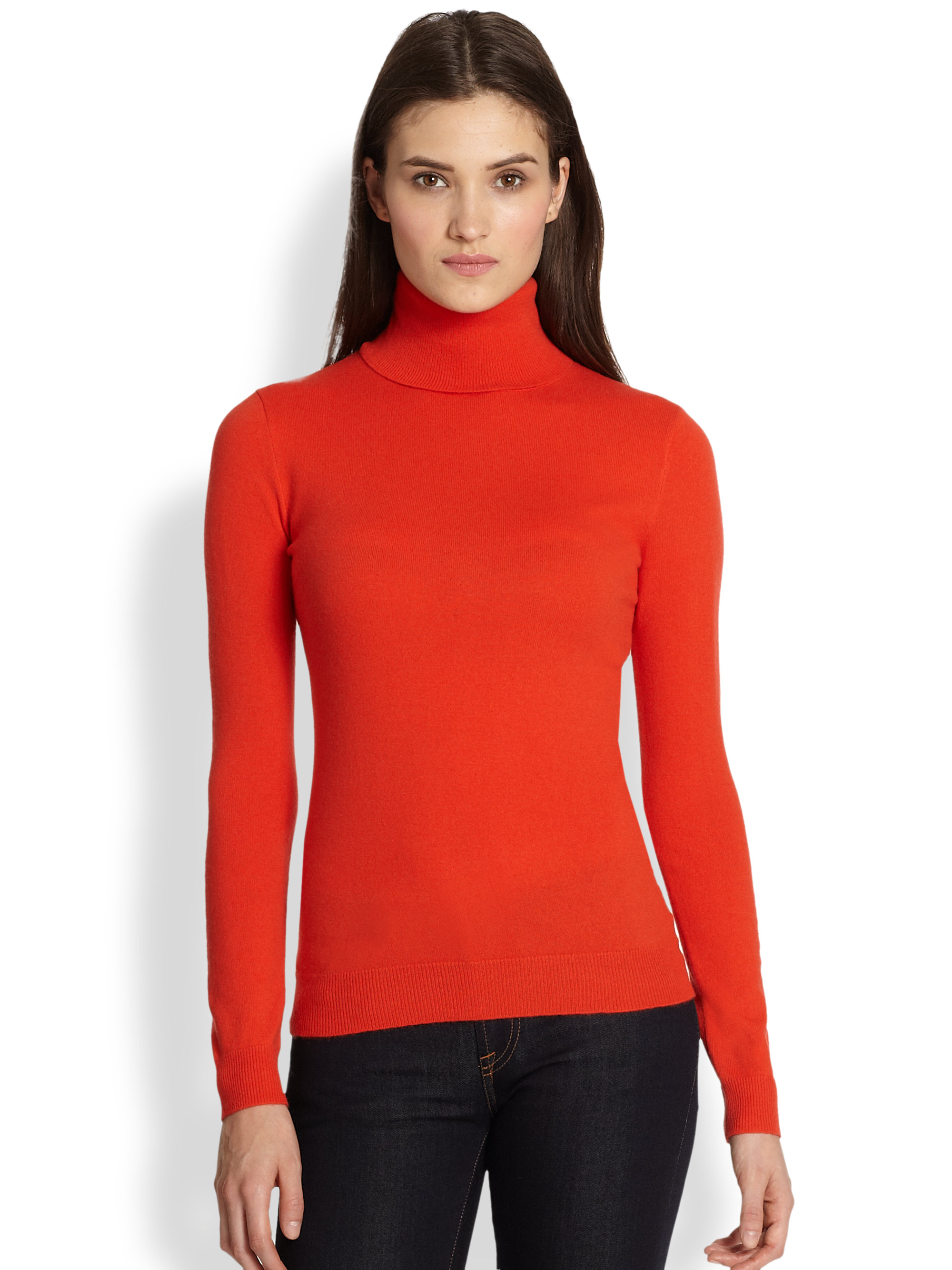 Ralph lauren black label Cashmere Turtleneck Sweater in Red | Lyst