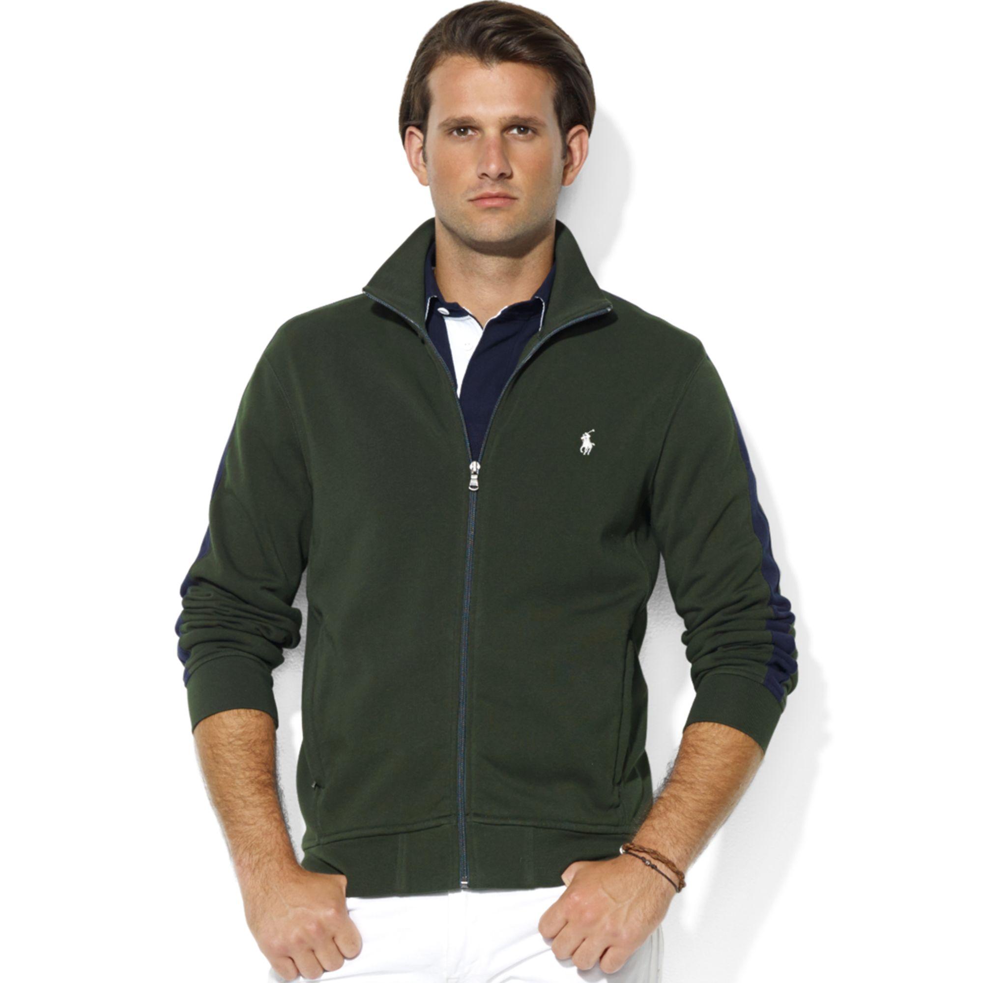 Ralph Lauren Zipfront Mock Neck Fleece Jacket in Red for