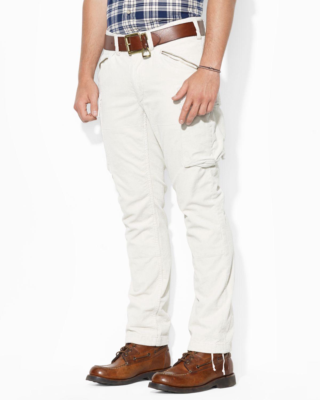 Corduroy In Straightfit Polo Natural Lyst Ralph Lauren Cargo Pants ulTF1Jc3K5