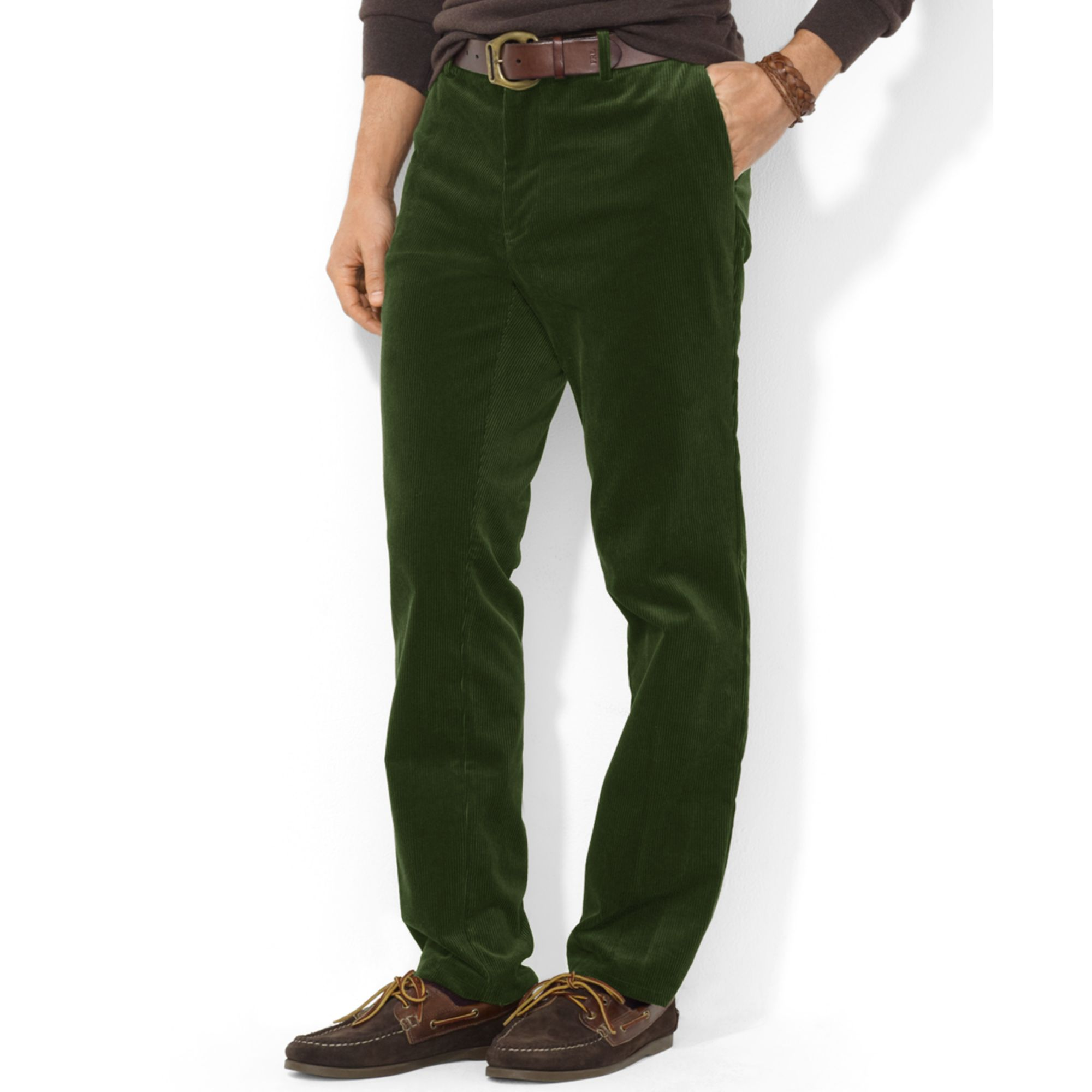 Ralph lauren Classic-fit Stretch corduroy Pants in Green for Men ...
