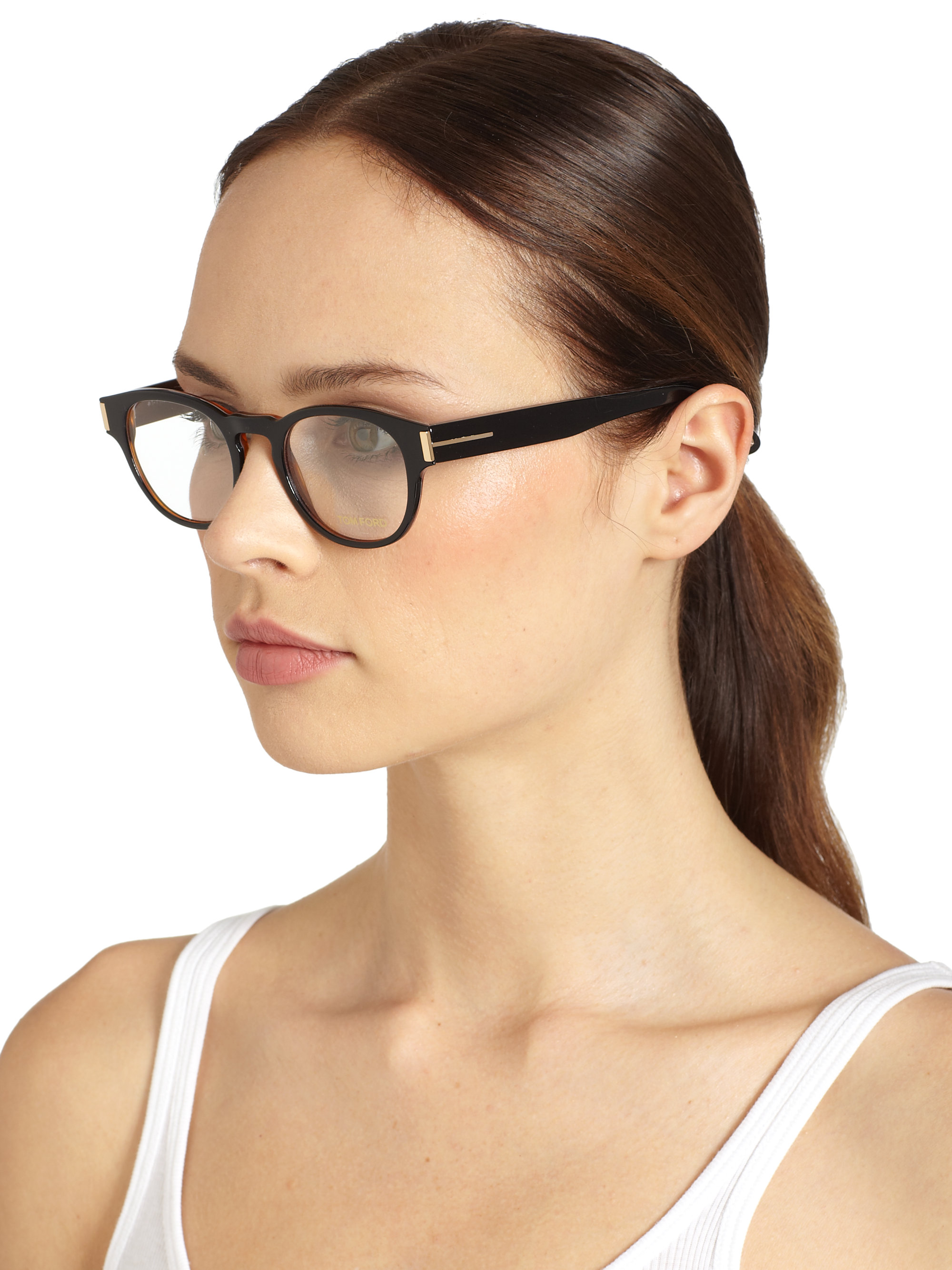 tom ford round eyeglasses in black lyst. Cars Review. Best American Auto & Cars Review
