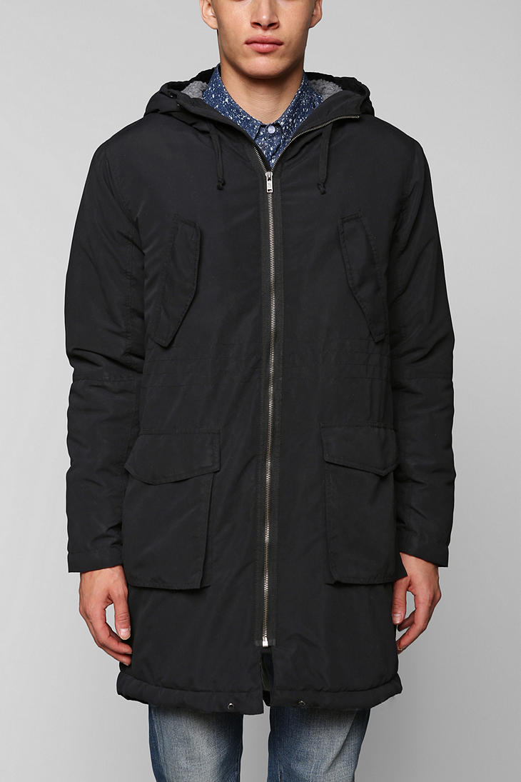 Urban outfitters Cheap Monday Bart Parka in Black for Men | Lyst