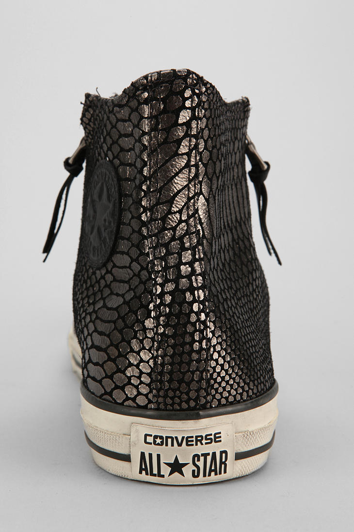 5e53b3852d0 Lyst - Urban Outfitters Converse Chuck Taylor All Star John Varvatos  Doublezip Snake Mens Hightop Sneaker in Black for Men