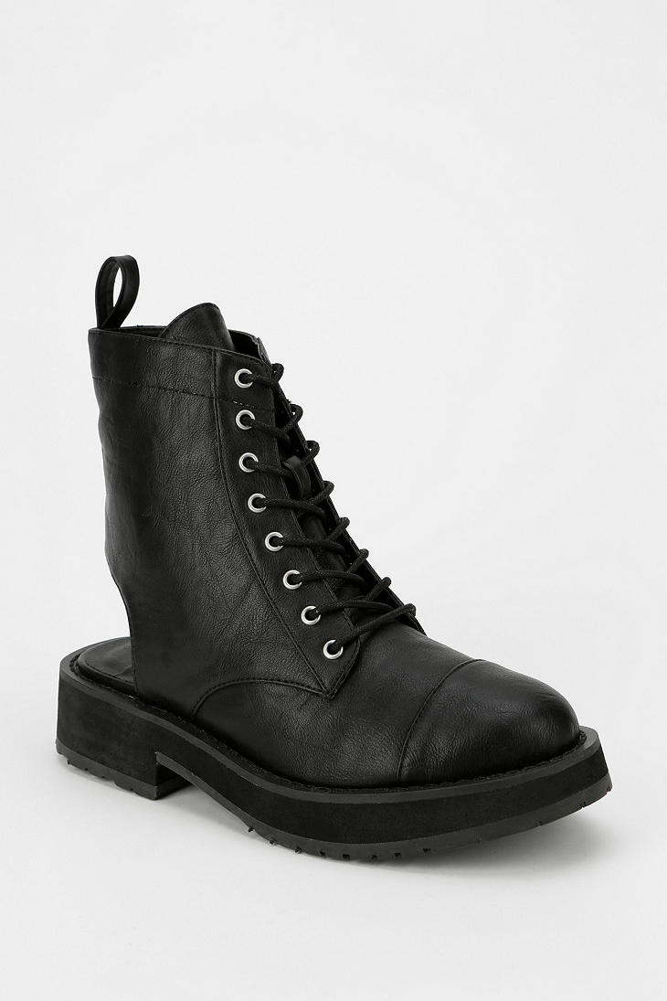 Urban Outfitters Deena Ozzy Cutout Platform Ankle Boot In