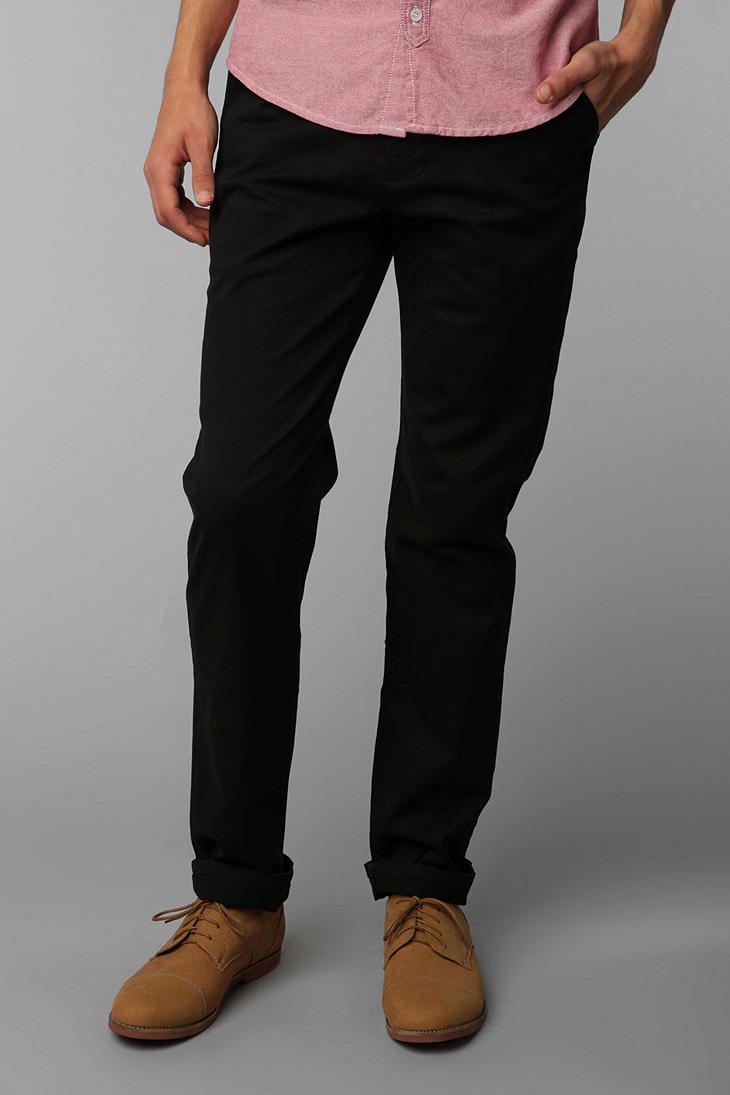 Hawkings mcgill Stretch Skinny Chino Pant in Black for Men | Lyst