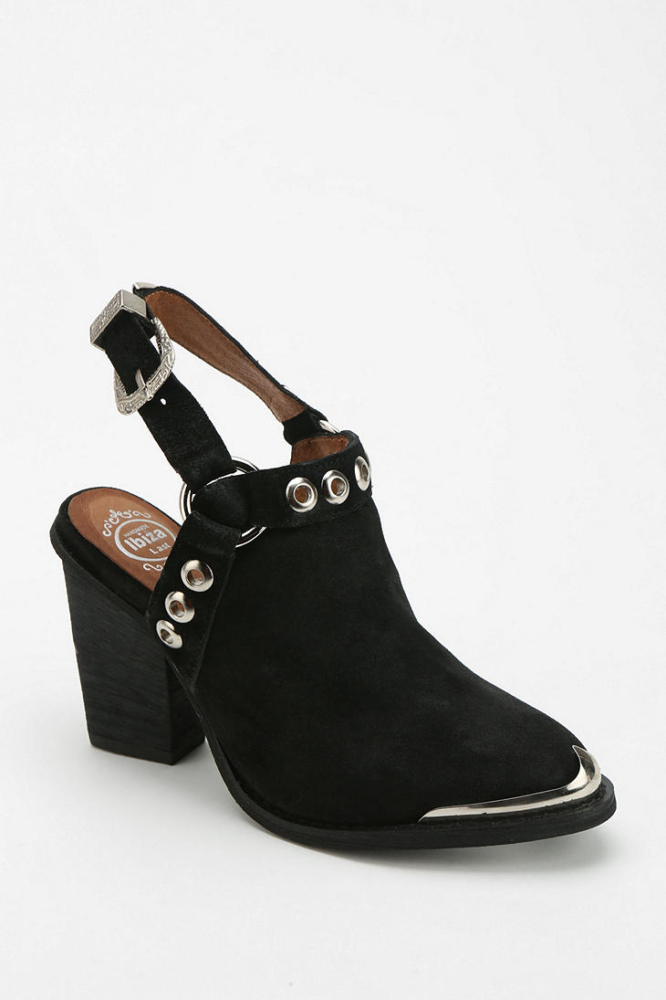 ec2d559c835 Lyst - Urban Outfitters Jeffrey Campbell Colby Slingback Heel in Black