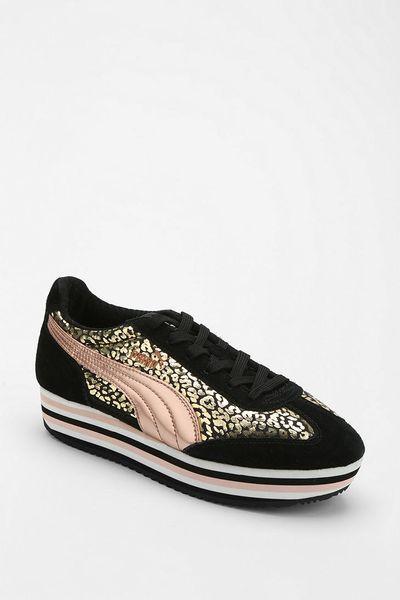 Urban Outfitters Puma Sf77 Animal Print Platform Sneaker