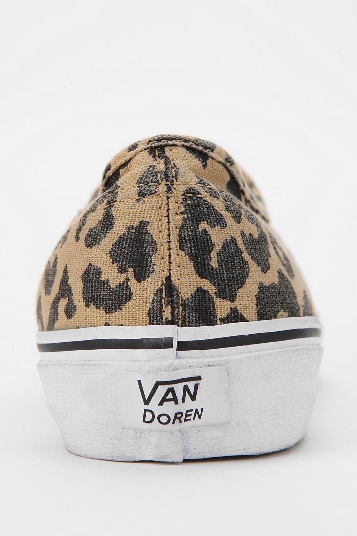 bb5e97b4a9c680 Lyst - Urban Outfitters Vans Authentic Van Doren Leopard Print ...