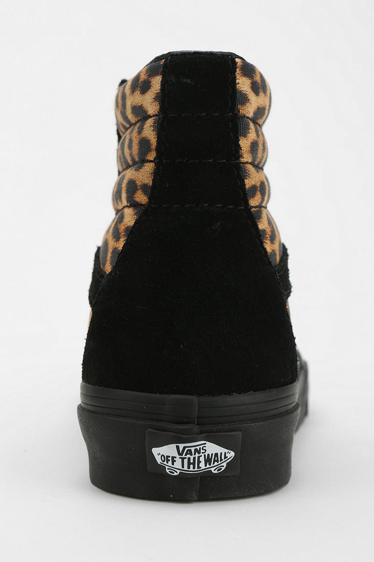 fed3f19498 Lyst - Urban Outfitters Vans Sk8-Hi Leopard Print Women s High-Top ...